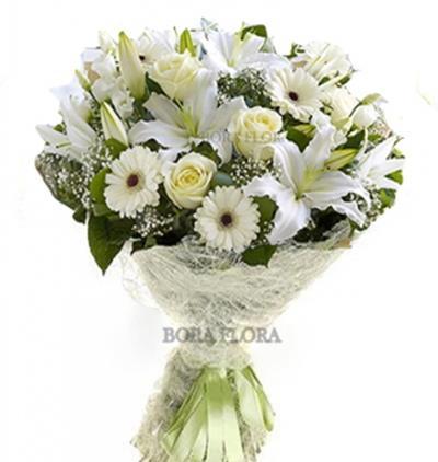 Bora Flora Lilyum,Gül,Gerbera Buketi
