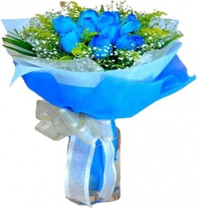 Bora Flora Mavi Gül Buketi
