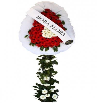 Bora Flora Kırmızı Beyaz Çelenk 3