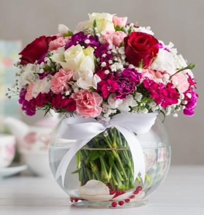 Bora Flora Renklerin Melodisi Çiçek Aranjmanı