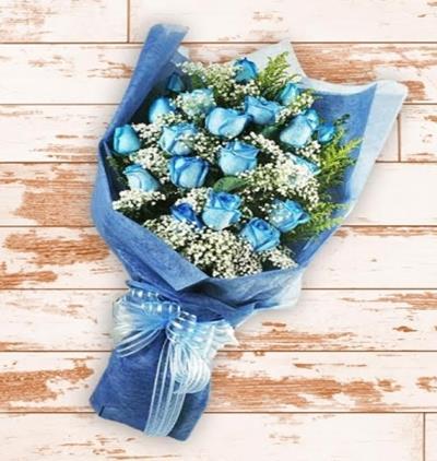 Bora Flora Mavi Gül Buketi x